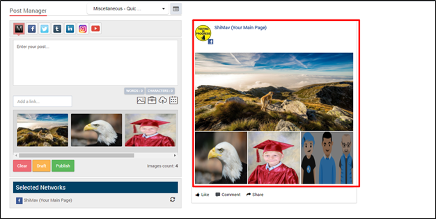 Multi-image publishing for Facebook, Twitter and Instagram – MavSocial