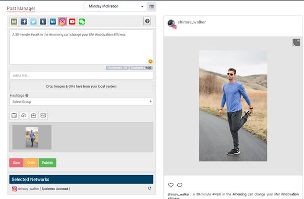 MavSocial Post Manager Instagram Publisher Social Media Post Manager